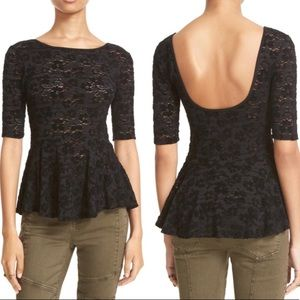 Free People Tops - Free People Lace Second Chance Peplum Top